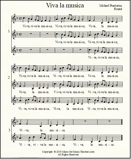 Free Vocal Sheet Music For Beginning Voice