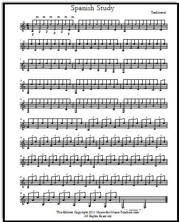 Spanish Study free sheet music