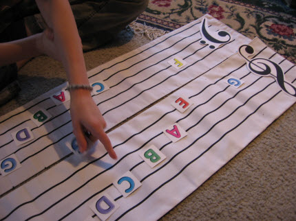 Notereading games with piano students