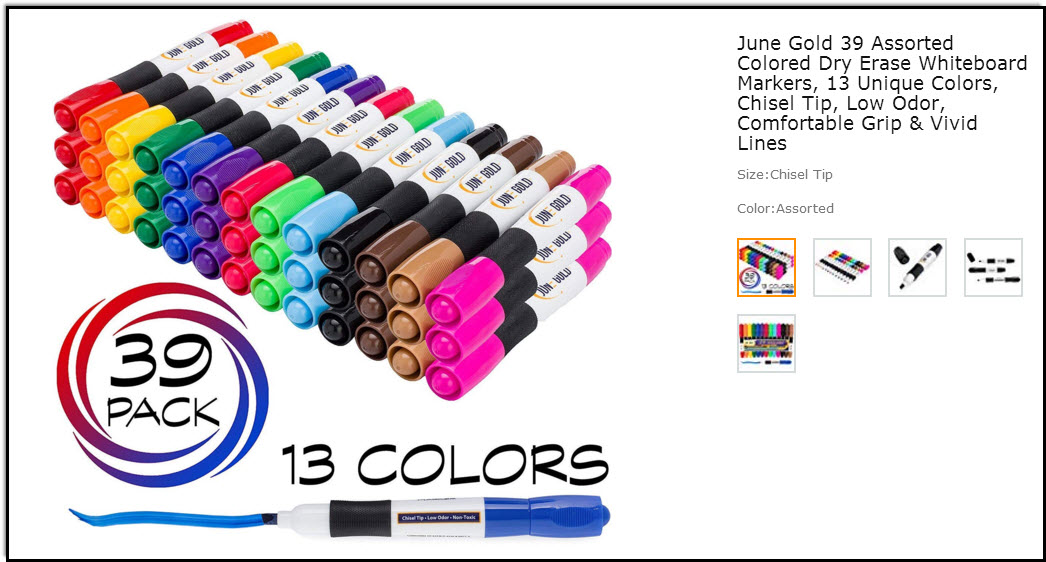 The best dry erase markers I've ever bought! Prettiest colors too.