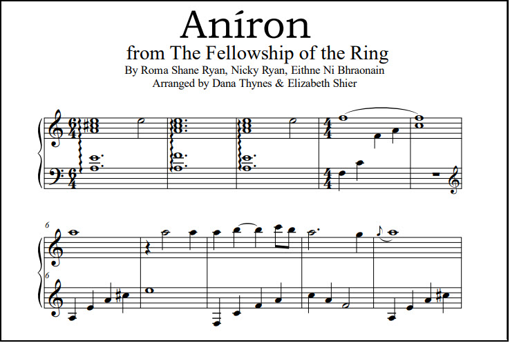 Piano sheet music for