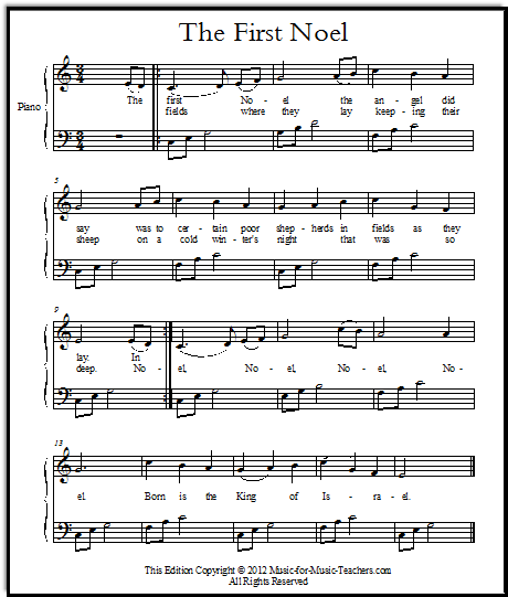 Christmas Sheet Music for Piano