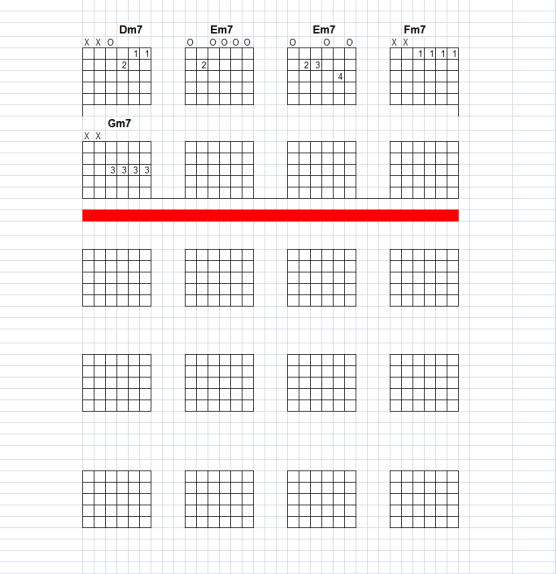 Chord charts you can make yourself for guitar