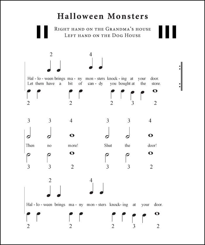 Halloween sheet music pdf for beginners