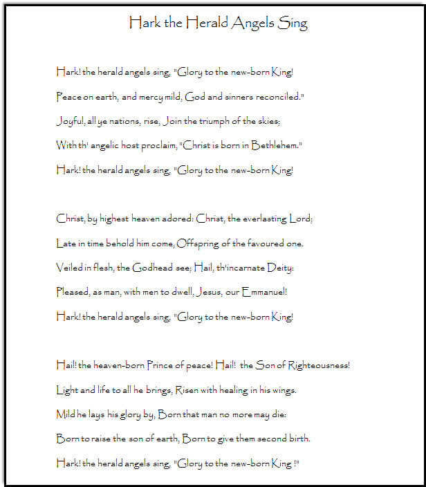 and here is a pdf version of the lyrics to print off for christmas caroling or just singing in a group at church