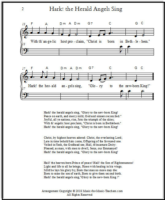 Christmas piano song for beginners