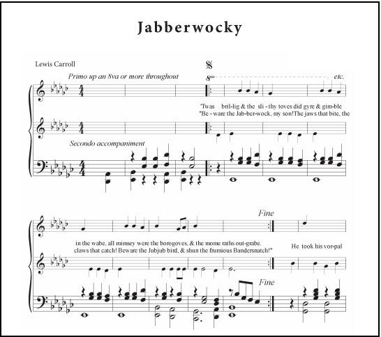 Jabberwocky piano accompaniment duet part