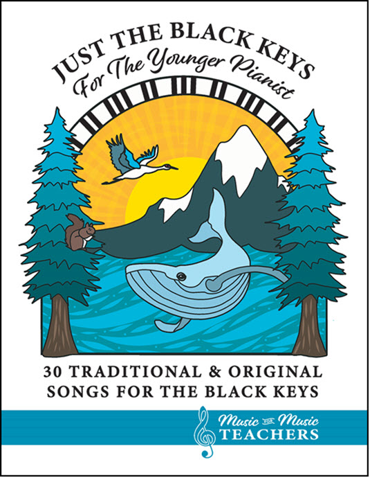 Just the Black Keys piano book for young beginners