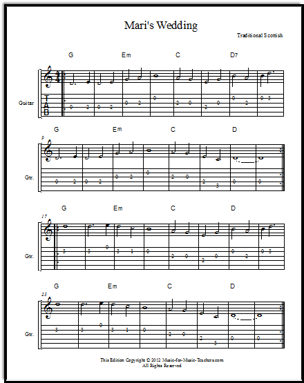 Mari's Wedding sheet music
