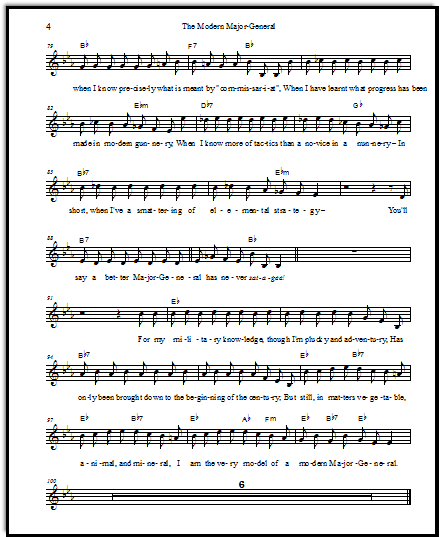 Pirates of Penzance sheet music free