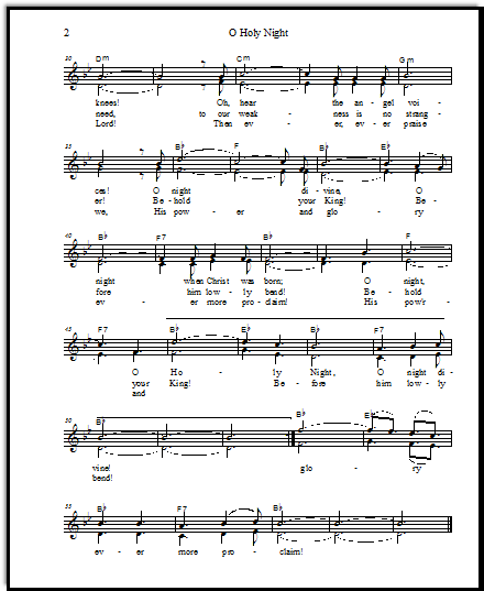 O Holy Night Sheet Music With A Step By Step Chord Theory Lesson