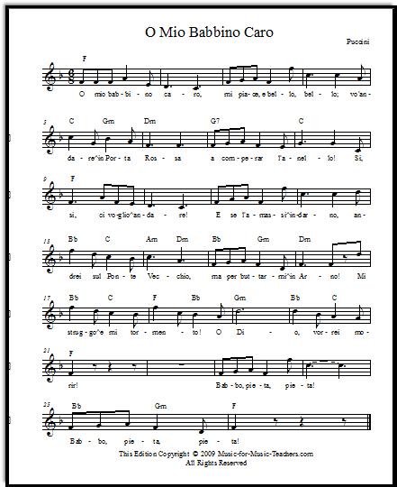 Free opera sheet music
