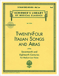 24 Italian Songs & Arias by Schirmer
