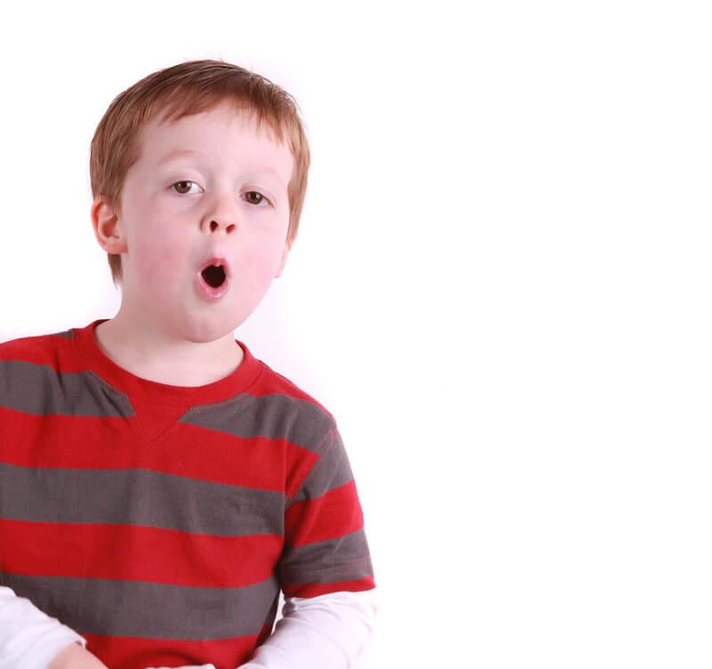 Little boy singing