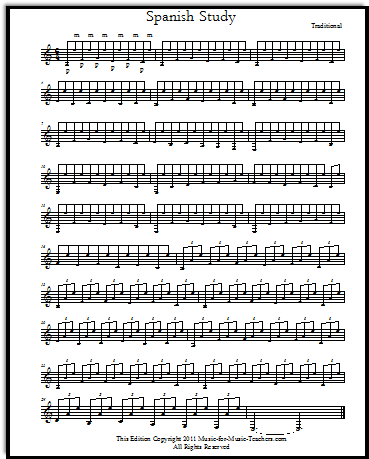 Spanish Study free sheet music