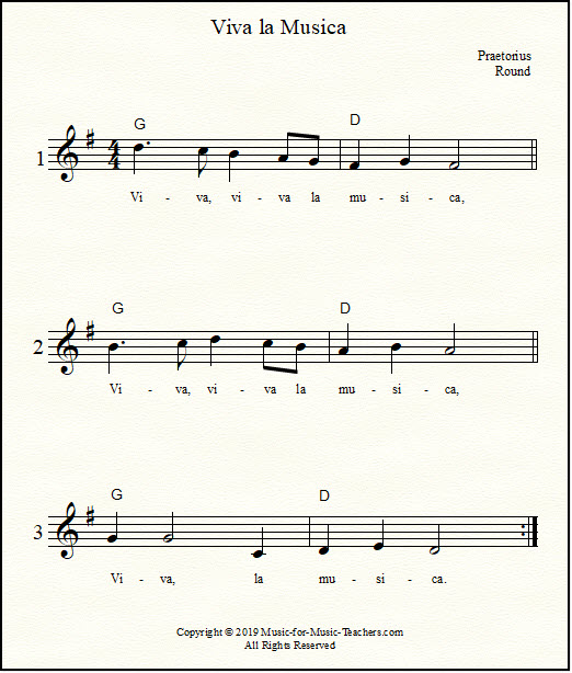 Viva la musica in the key of F sheet music