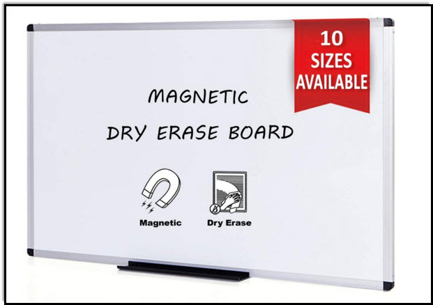 Whiteboard from Amazon for drawing notes and musical symbols on