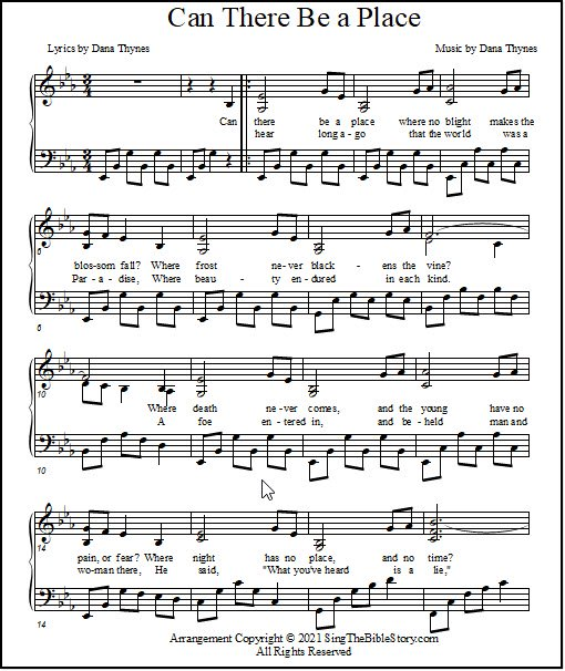 Easter song piano music