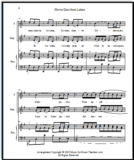 Easy piano Flower Duet