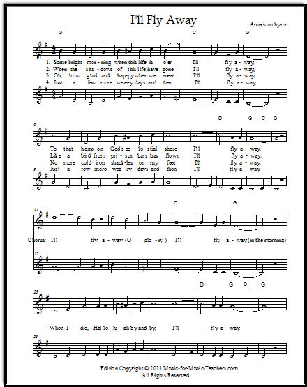 "I'll Fly Away"" Free Fiddle Sheet Music & Easy Guitar Tabs"