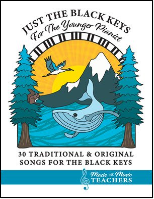 Just the Black Keys is a book for piano beginners with easy-to-read songs.  Available as a paperback or as a digital download!