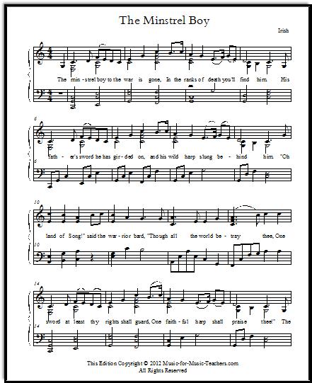 Irish song The Minstrel Boy