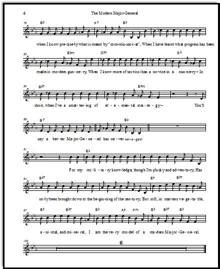 Pirates of Penzance sheet music free