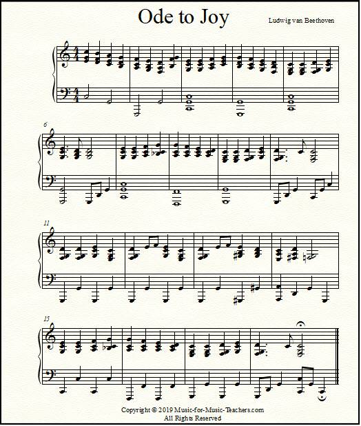 picture relating to All of Me Easy Piano Sheet Music Free Printable known as Ode toward Happiness Sheet Songs for Piano, Straightforward Starter towards Superior