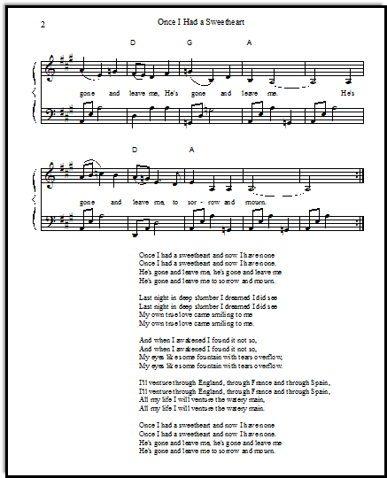 Free folk music for singers