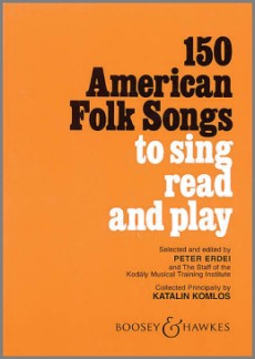 150 American Folk Songs to sing, read, and play music book