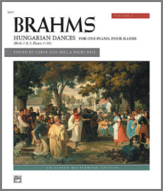 Brahms Hungarian Dances duets for piano