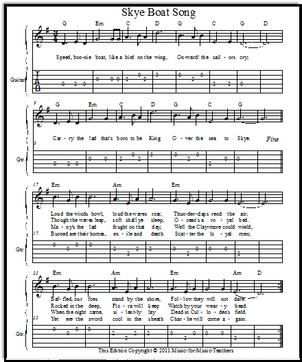 Skye Boat Song sheet music