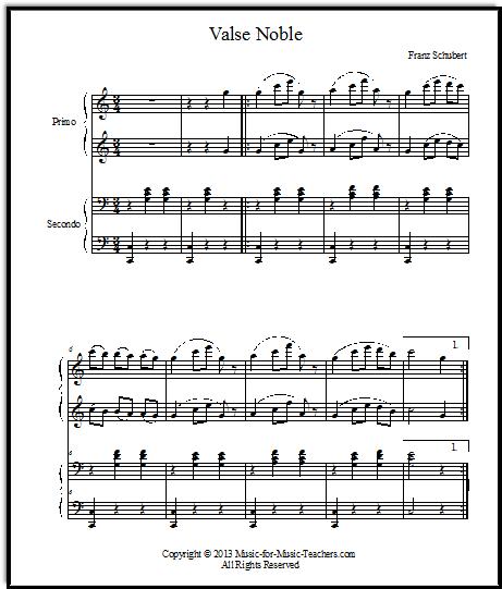 Schubert piano duet from