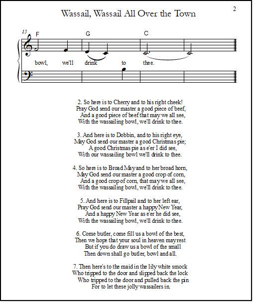 Wassail song lyrics