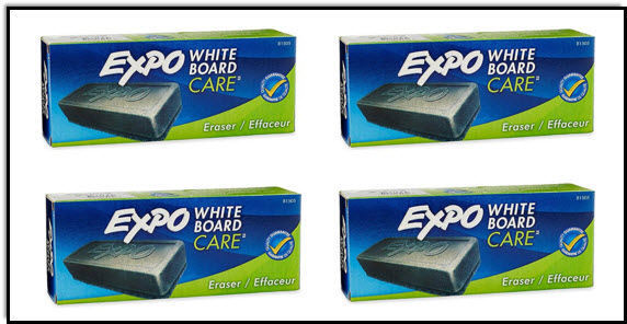 Erasers for a whiteboard